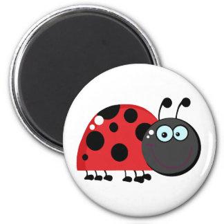 Ladybug Cartoon Character 6 Cm Round Magnet