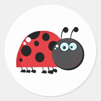 Ladybug Cartoon Character Sticker