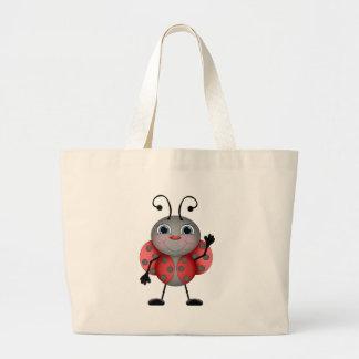 Ladybug cartoon tote bag