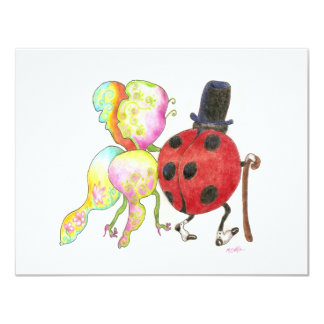 ladybug change of address card 11 cm x 14 cm invitation card