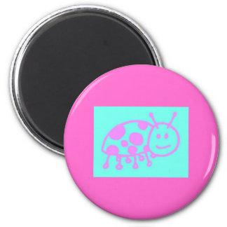 Ladybug Clipart 6 Cm Round Magnet