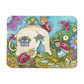Ladybug Cottage Rectangle MAGNET