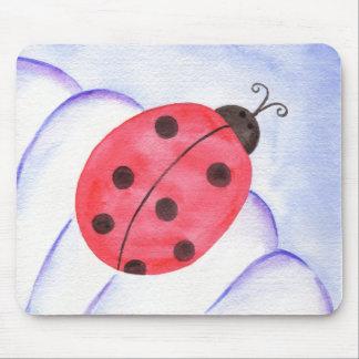 Ladybug Daisy Flower Mousepad
