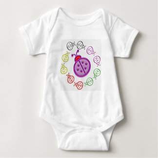 LadyBUG Dance: KIDS love Lady BUG n insects as pet Baby Bodysuit
