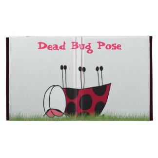 Ladybug Dead Bug Yoga Pose iPad Case