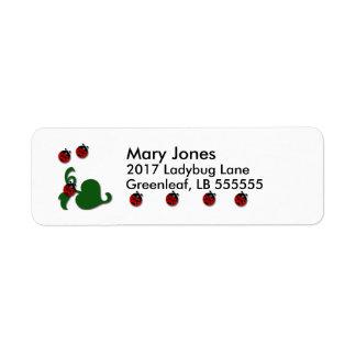 Ladybug Decor Return Address Label