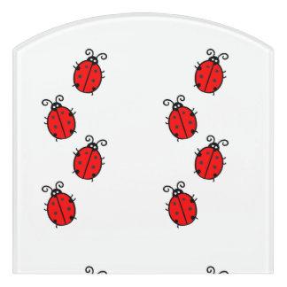 Ladybug dot beetle Office Custom Destiny Destiny'S Door Sign