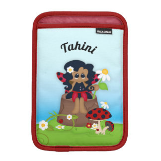 Ladybug Fairy Mushroom Name Locket Necklace iPad Mini Sleeve