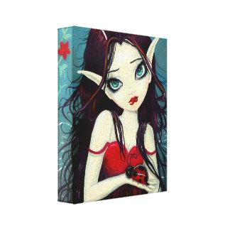 Ladybug Fairy Wrapped Canvas Print