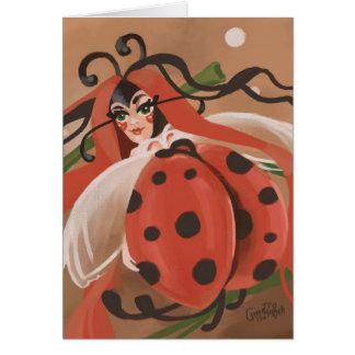 Ladybug fantasy card