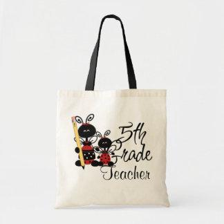 Ladybug Fifth Grade Teacher's Tote Bag