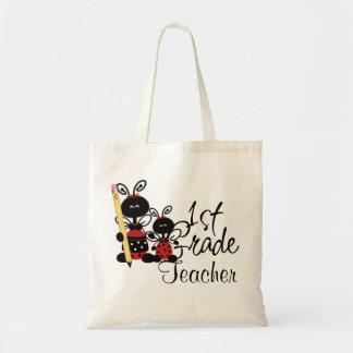 Ladybug First Grade Teacher's Tote Bag