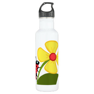Ladybug Flower 710 Ml Water Bottle
