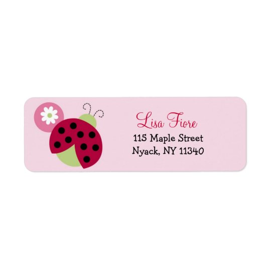 Ladybug Flower Baby Shower Address Labels