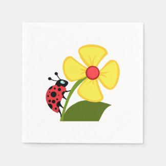 Ladybug Flower Paper Napkin
