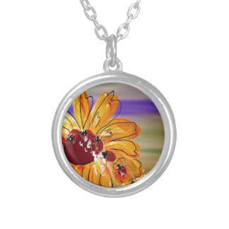 LADYBUG FOLLOW THE LEADER SILVER PLATED NECKLACE