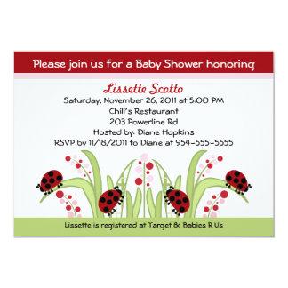 Ladybug Garden #2 Baby Shower Invitations