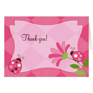 LADYBUG GARDEN Folded Thank you note Note Card