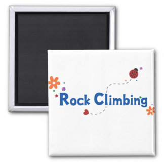 Ladybug Garden Rock Climbing Square Magnet