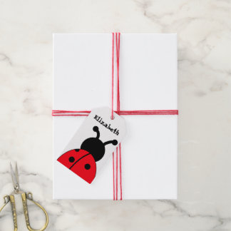 Ladybug Gift Tags, Personalized, With Twine Gift Tags