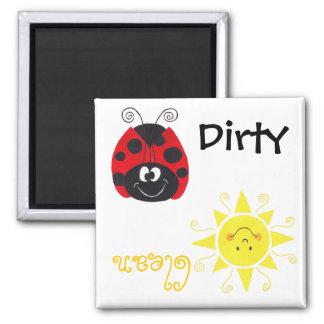 Ladybug Happy Sun Clean Dirty Dishwash Magnet Refrigerator Magnet