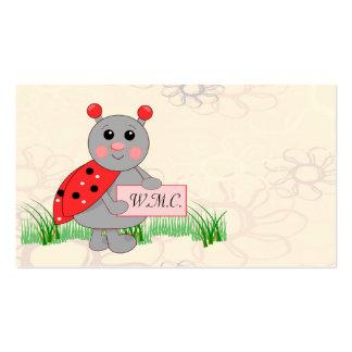 Ladybug Holding Sign For Ladybug Love Business Cards