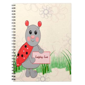 Ladybug Holding Sign For Ladybug Love Note Book