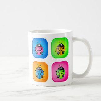 Ladybug Icons Basic White Mug