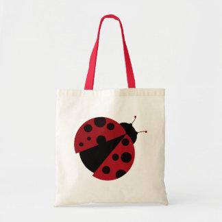 ladybug image tote bag