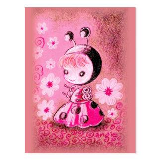 Ladybug in a Dress Postcard