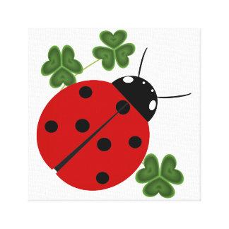 Ladybug in Clover Canvas Print