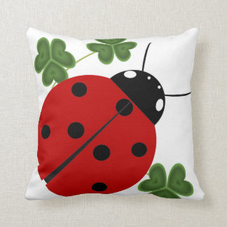 Ladybug in Clover Cushion
