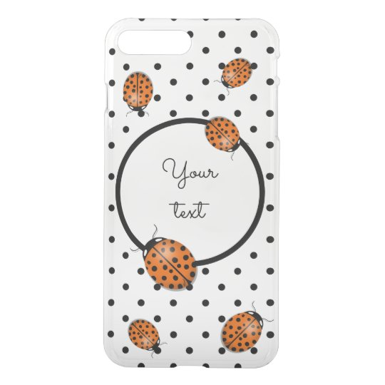 Ladybug in orange iPhone 7 plus case