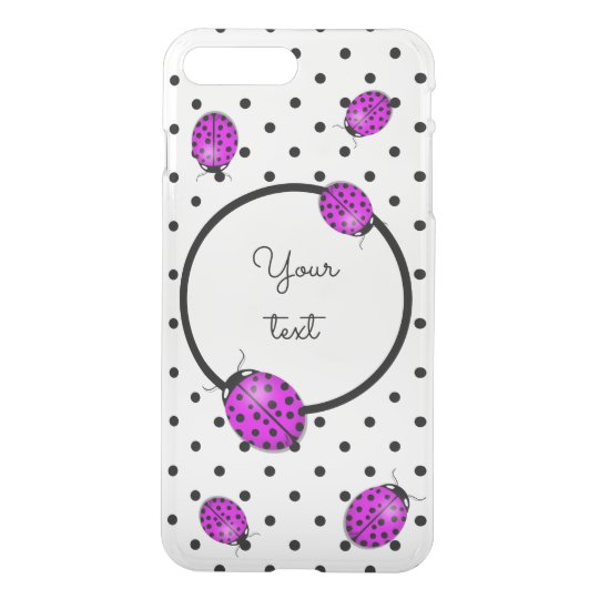 Ladybug in pink/purple iPhone 7 plus case