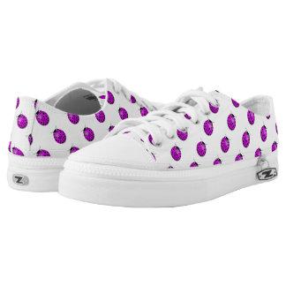 Ladybug in pink/purple printed shoes