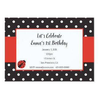 Ladybug Invitation for Kid Birthday or Baby Shower