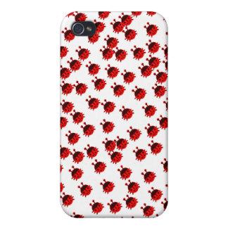 ladybug ladybeetle beetle cute bug red ladybug iPhone 4/4S covers