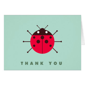 Ladybug / Ladybird Thank You Greeting Card