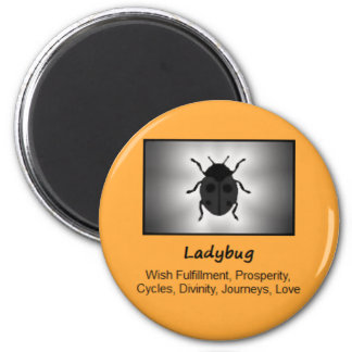 Ladybug Ladybird Totem Animal Spirit Meaning 6 Cm Round Magnet