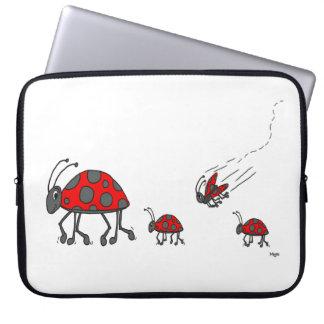 Ladybug lineup laptop sleeve