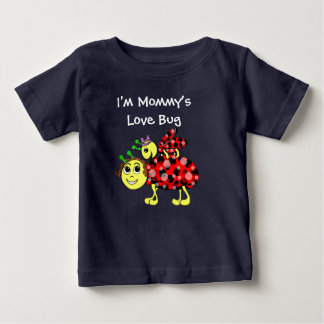 Ladybug Love Customise or add Text Baby T-Shirt