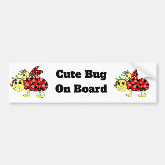 Ladybug Love Customize or add Text Bumper Sticker