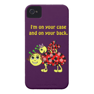 Ladybug Love Customize or add Text iPhone 4 Case