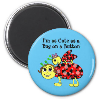 Ladybug Love Customize or add Text Magnet