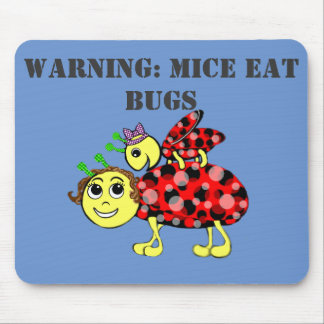 Ladybug Love Customize or add Text Mouse Pad