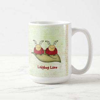 Ladybug Love Whimsical Graphic Mug