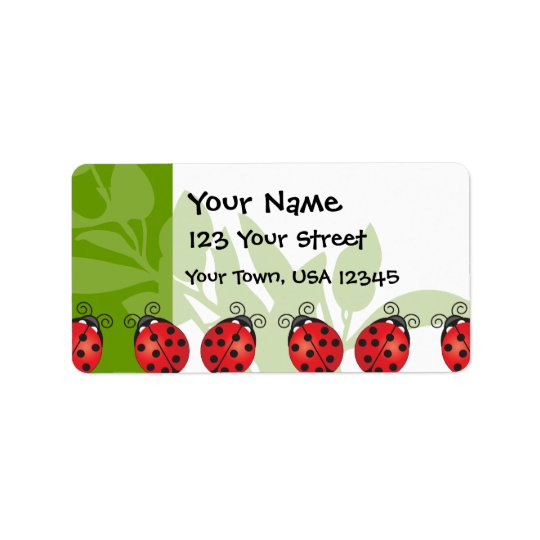 Ladybug Luck Address Label