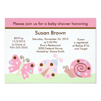 Ladybug Lullaby/Butterfly Baby Shower Invitation