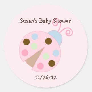 Ladybug Lullabye/Butterfly Stickers/Envelope Seals Round Sticker
