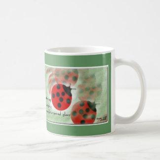 Ladybug Mug (zen haiku series)